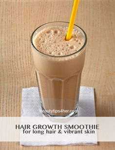Hair Growth Smoothie - Faster hair growth can help make your hair thicker, since it offsets and overtakes hair loss.