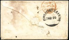 "ONE OF ONLY A HANDFUL OF COVERS WITH ""KURRACHEE BEARING"" CDS  1850 (Jan 18) Stampless envelope from England to India, redirected on arrival,..."