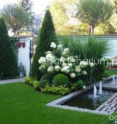 Stunning backyard with water design Informatio . - Stunning backyard with water design beautiful design About beautiful garden - White Gardens, Small Gardens, Outdoor Gardens, Indoor Garden, Amazing Gardens, Beautiful Gardens, Small Yard Landscaping, Landscaping Ideas, Acreage Landscaping