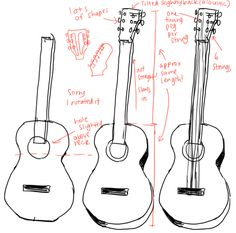 a tutorial on a guitar Drawing Reference Poses, Drawing Poses, Drawing Tips, Guitar Tutorial, Drawing Practice, Drawing For Kids, Art Tutorials, Drawing Tutorials, Art Tips