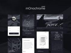 Monochrome UI Kit