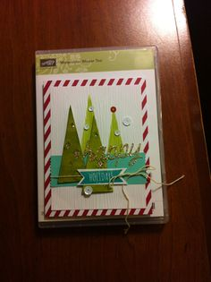 Stampin' Up! demonstrator Marilyn B's project showing a fun alternate use for the Watercolor Winter Simply Created Card Kit.