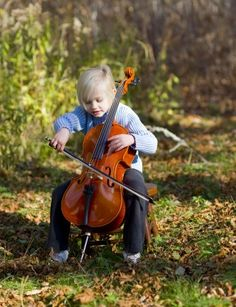 Playing cello outside....