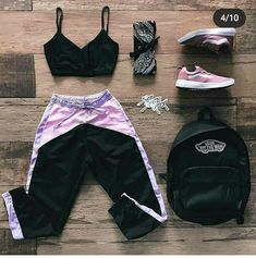 Cute Lazy Outfits, Swag Outfits For Girls, Teenage Girl Outfits, Cute Swag Outfits, Crop Top Outfits, Girls Fashion Clothes, Teen Fashion Outfits, Dance Outfits, Stylish Outfits