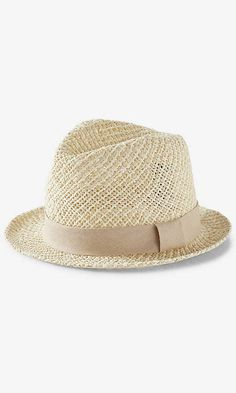 Two Tone Open Weave Fedora Hat - $34.90 at Express // via Shop My Picks: Summer Hats // The Busy Girl's Shopping Companion #beach