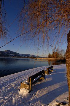 Lake Zurich. Rapperswil. Switzerland.