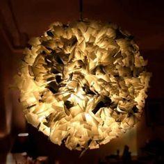 lampara de bolsas de plástico