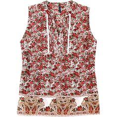 Weekend. Modelo: G815A0430575TSE. Blusa estampada, con detalles en pecho, sin mangas.