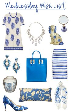 Blue and White | Color Trends | Comfy Cozy Couture | Blue and White Fashion & Home Decor Picks