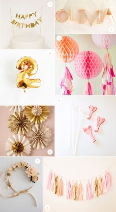 Chloe's bday/ cake topper Pink and Gold party ideas 1st Birthday Girls, First Birthday Parties, First Birthdays, Birthday Ideas, Pink Gold Party, Pink And Gold, Purple, Diy Party, Party Ideas