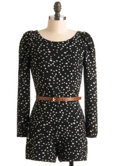 Happy Go Lucky Star Romper- I may have already pinned this, but I don't care. I really want to wear this with tights and boots in the fall.