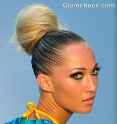 fluffy top knot bun hairstyle how to