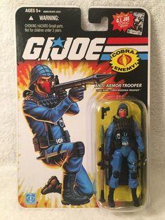 COBRA TROOPER Bazooka Anti Armor GI JOE 25th anniversary figure COMIC Series #Hasbro