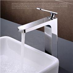 Elegante Waschbeckenarmatur Modern Chrom Einhand im Badezimmer