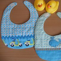 Basic Bib Tutorial w/ free pattern #baby #sew #DIY