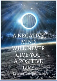 positive and negatives in life