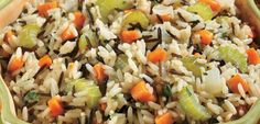This fail-safe recipe features both white and wild rice, flavored with aromatic vegetables and a hint of garlic to make a super side-dish to complement your main course.