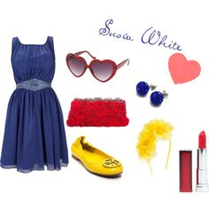 Snow White?(:, created by therealellewoods on Polyvore