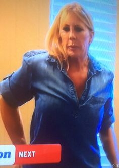 Vicki Gunvalson's Denim Shirt At Breanna's | http://www.bigblondehair.com/real-housewives/rhoc/vicki-gunvalsons-denim-shirt-at-breannas/