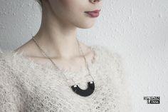 Perfect gift for minimalists. Black Pendant Necklace 'Casual' – a unique product by EtenIren via en.DaWanda.com