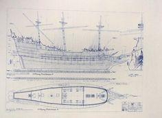 Flying Dutchman Segeln Schiff Blueprint von Walt von BlueprintPlace
