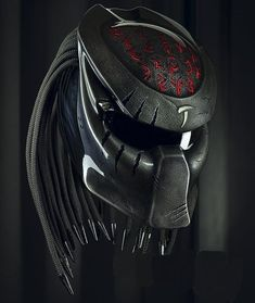 Predator masks made of high quality Fiberglass. -Motorcycle Shows. - Visors have sliding buttons to open and close the visor. Motorcycle Events, Custom Motorcycle Helmets, Women Motorcycle, Biker Helmets, Custom Helmets, Custom Bikes, Predator Helmet, Predator Alien, Ayrton Senna