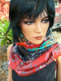 GORGEOUS Deadstock Designer  China Silk Large by RadicallyRetro, $40.00