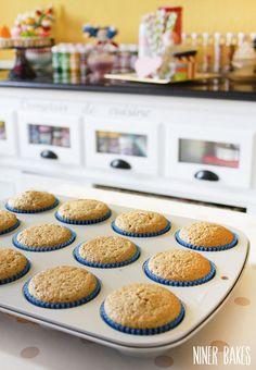 Healthier, absolutely yummy tasting Vanilla Cupcakes | niner bakes
