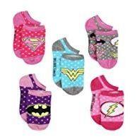 DC Comics Girls' Justice League 5 Pack Socks