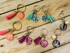Monogram Keychain With Tassel/ Personalized Keychain/ Monogram