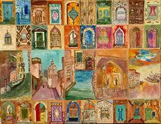 Marrocos vs Veneza acrílico sobre papel