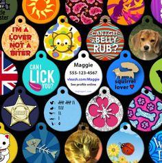 Custom-Made Pet ID Tags.