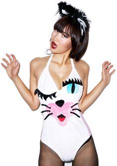 J Valentine Soft Kitty Bodysuit Raves EDM Coachella Festivals Fashion Outfit Ideas raver style hair