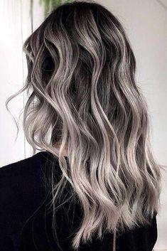 Contrastive Ash Blonde Balayage  Babylights Combo #blondehair #highlights #brun