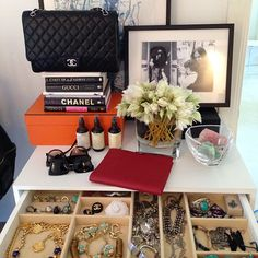 Inside my world shooting for @Mike Clarke Collective #chanel #hermes #aveda #trinkets