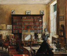 Interior Study Mary Dawson Elwell (Brit 1874-1952)