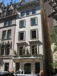 Hutton House, Upper East Side Franklyn & Edna Hutton House Italian Renaissance Townhouse (1911-12) Architect: C.P.H. Gilbert, New York