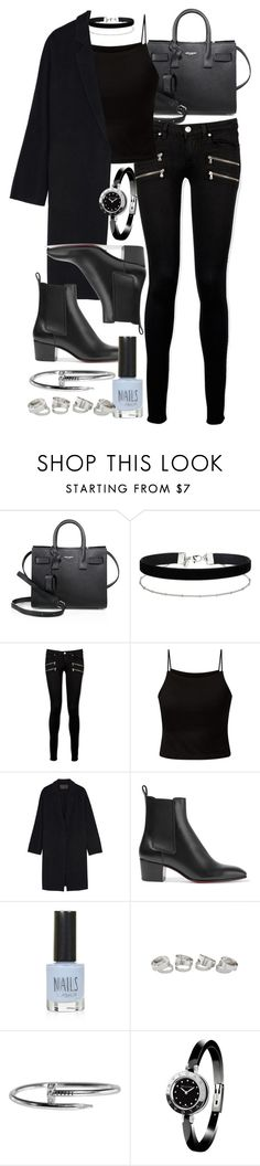 """Style #11530"" by vany-alvarado ❤ liked on Polyvore featuring Yves Saint Laurent, Miss Selfridge, Paige Denim, Parisian, Donna Karan, Christian Louboutin, Topshop and Bulgari"