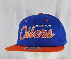 5182280c103 Edmonton Oilers Retro Look Royal Blue Orange White New Era Snapback Hat