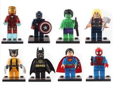 16pcs-Marvel-DC-Super-Hero-Avengers-mini-figure-Thor-Hulk-Custom-made-fits-Lego