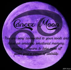 Some keywords a Cancer Moon can relate to. Enjoy!