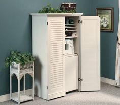 ... Spare Bedroom  To Put All My Mailing Supplies In And It Has A Work  Table That Folds Out For Getting My Shipments Ready. Sauder Harbor View  Craft Armoire ...