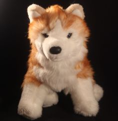 Red Siberian Husky Plush Douglas Toys Rubin 2042 Russet Wooly long haired dog