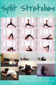 65 best stretches for splits/ other stretches images