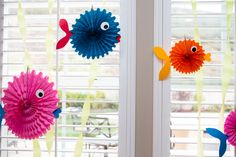 Under the Sea Party - fish fan decorations