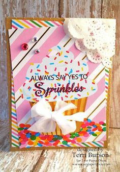 Two Paper Divas cupcake birthday card