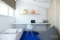 Bold decor schemes with modern minimalist flair Minimalist House Design, Minimalist Home, Minimalist Apartment, Kids Room Furniture, Custom Furniture, Minimalism For Kids, Teenager Zimmer Design, Teen Room Designs, Student Bedroom