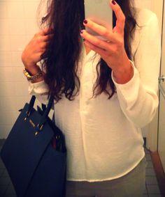 Zara top Mango pants MK bag