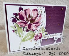 Hand Stamped Cards, Wink Of Stella, Stampin Up Catalog, Paper Cards, Cards Diy, Stamping Up Cards, Fine Art Gallery, Flower Cards, Cardmaking