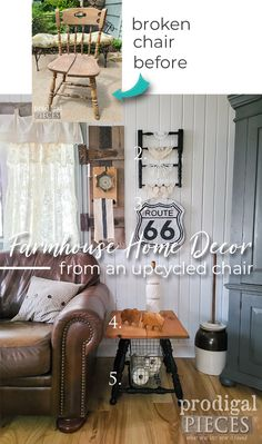 Furniture Makeover, Furniture Decor, Painted Furniture, Diy Furniture Tutorials, Chair Backs, Farmhouse Homes, Repurposed Furniture, Diy Ideas, Projects